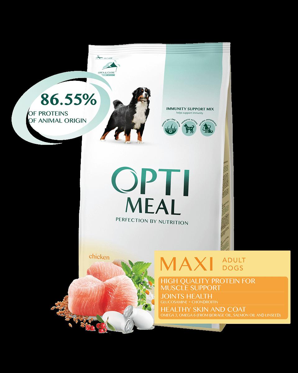 Корм Optimeal Оптіміл для собак великих порід з куркою12 кг
