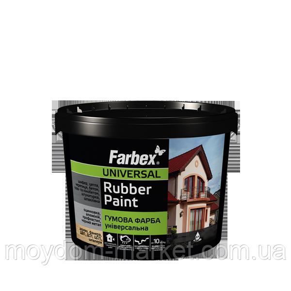 Фарба гумова універсальна Rubber Paint, 3,5кг Біла, ТМ Farbex