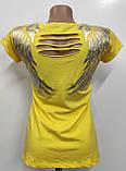Футболка жіноча Туреччина Новинки жовта Корона, фото 2