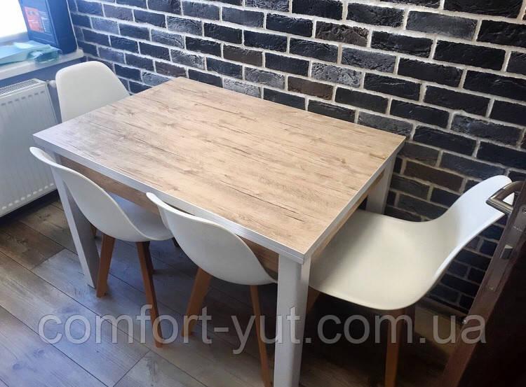 Стол обеденный Марсель 110(+35+35)х75 белый - Шервуд