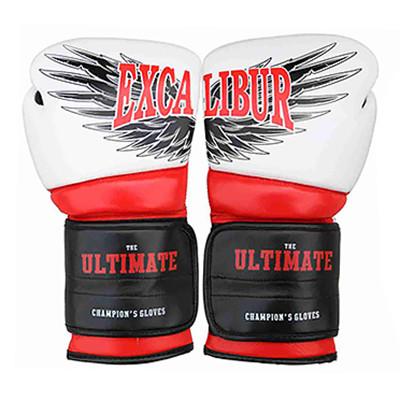 Перчатки боксерские Excalibur 8031-02 Ultimate (12 oz) белый/красный/черный