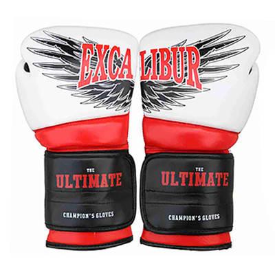 Перчатки боксерские Excalibur 8031-02 Ultimate (12 oz) белый/красный/черный, фото 2