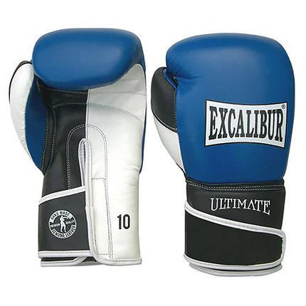 Перчатки боксерские Excalibur 551-03 Ultimate (14 oz) синий/белый/черный, фото 2