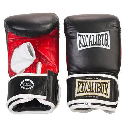 Снарядные перчатки Excalibur 604 L черный/красный/белый, фото 2