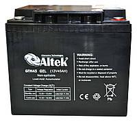 Аккумулятор гелевый Altek 6FM45GEL 12V 45AH, для ИБП, фото 1