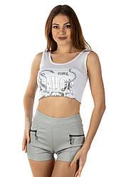 Женские короткие шорты из кожзама