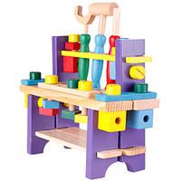 Деревянный игровой набор Столик с инструментами