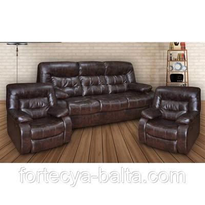 """Комлект мягкой мебели """"Лотто"""" (диван + кресло-реклайнер)"""