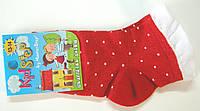 Детские носки в горошек красные