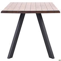 """Стол обеденный 160*90*76 см Bismarck черный/шпон американский орех ТМ """"AMF"""", фото 3"""