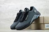 Мужские весенние кроссовки текстильные/сетка черный Jordan, фото 2