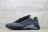 Мужские весенние кроссовки текстильные/сетка черный Jordan, фото 5