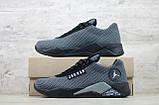 Мужские весенние кроссовки текстильные/сетка черный Jordan, фото 3