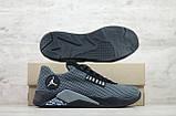 Мужские весенние кроссовки текстильные/сетка черный Jordan, фото 4