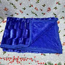 Плед покрывало Норка меховое Синий цвет Евро размер