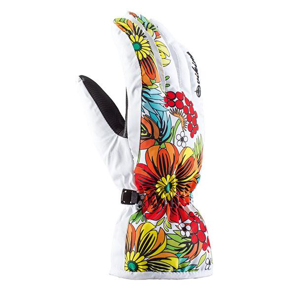Гірськолижні рукавички Viking Tolina білі   розмір - 5,6,7