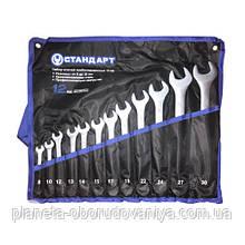Набор рожково-накидных ключей 12 ед. (8-30 мм) в чехле СТАНДАРТ NKK12STA-S