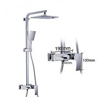 Душова система з верхнім душем, змішувач і ручної лійкою білий / хром Gappo Jacob G2407-30
