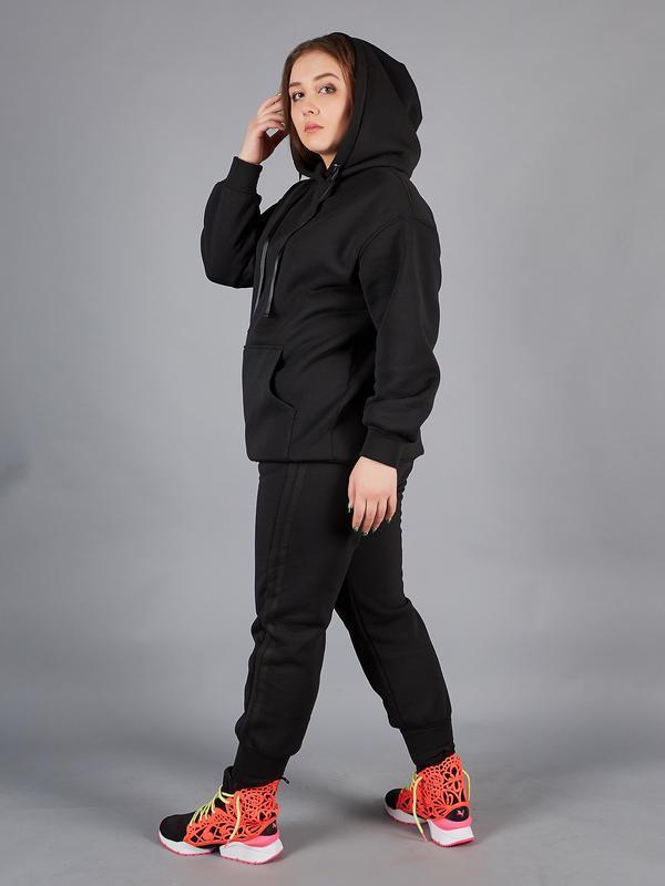 Спортивный костюм женский для полных черный