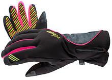 Гірськолижні рукавички Viking Kathrina кол.чорний-розовий-сірий | розмір - 5,6,7,8