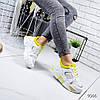 Кроссовки женские белые эко кожа 12\9566, фото 2
