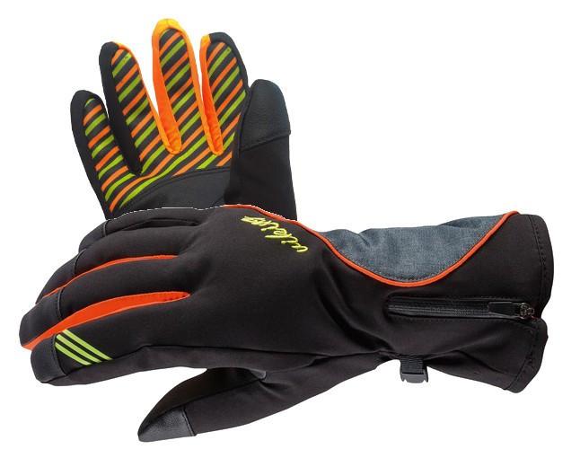 Гірськолижні рукавички Viking Kathrina кол. чорний-помаранчевий-сірий   розмір - 6