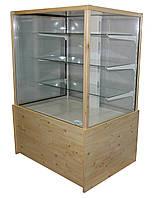 Витрина холодильная кондитерская ДНІПРОторг КУБ напольная с двойным стеклом