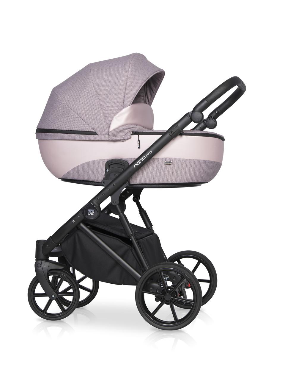 Дитяча універсальна коляска 2 в 1 Riko Nano Pro 03 Pink Pearl
