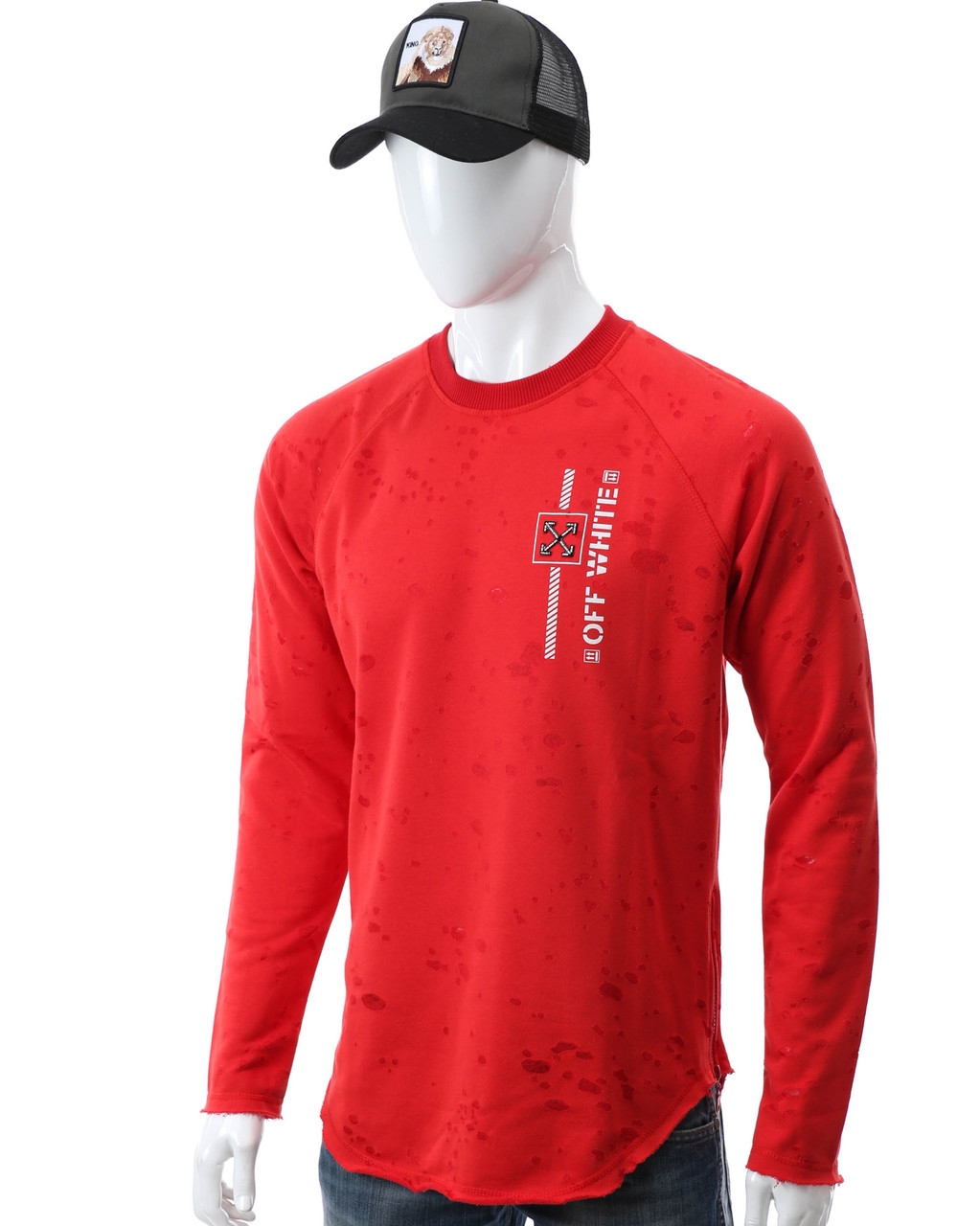 Свитшот красный OFF-WHITE #10 Р-2 RED L(Р) 20-516-212