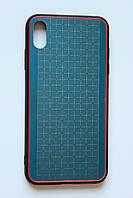 Чехол Fiji для Apple Iphone XS бампер с металлической накладкой Gelius Metal Plating Blue