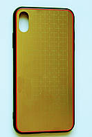 Чехол Fiji для Apple Iphone XS бампер с металлической накладкой Gelius Metal Plating Gold