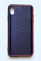 Чехол Fiji для Apple Iphone XS бампер с металлической накладкой Gelius Metal Plating Violet