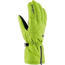 Гірськолижні рукавички Viking Selena зелені | розмір - 5,6