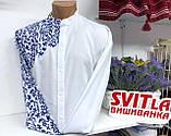 """Чоловіча вишита сорочка у сучасному стилі """"Оскар"""", фото 5"""