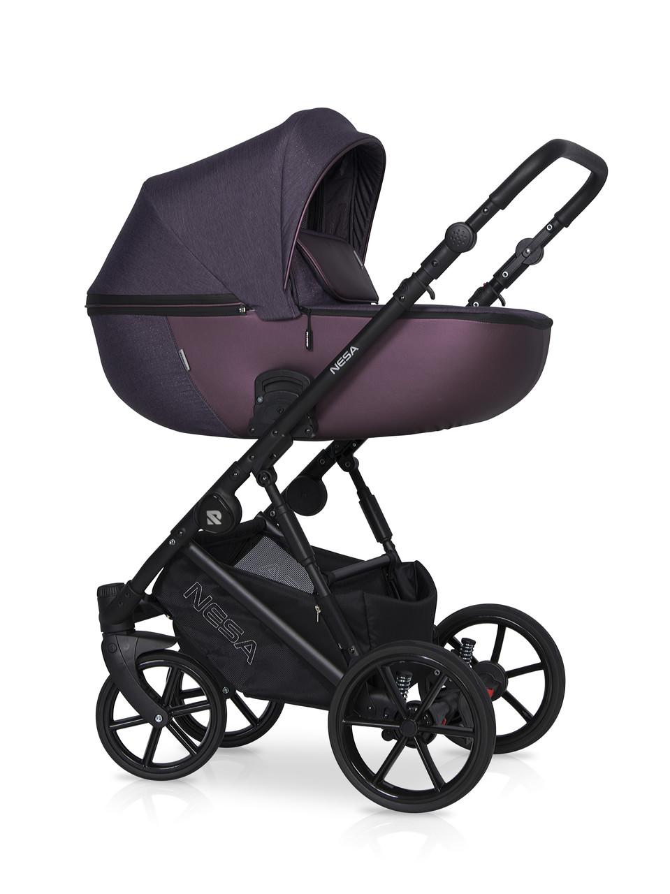 Детская универсальная коляска 2 в 1 Riko Nesa 03 Plum