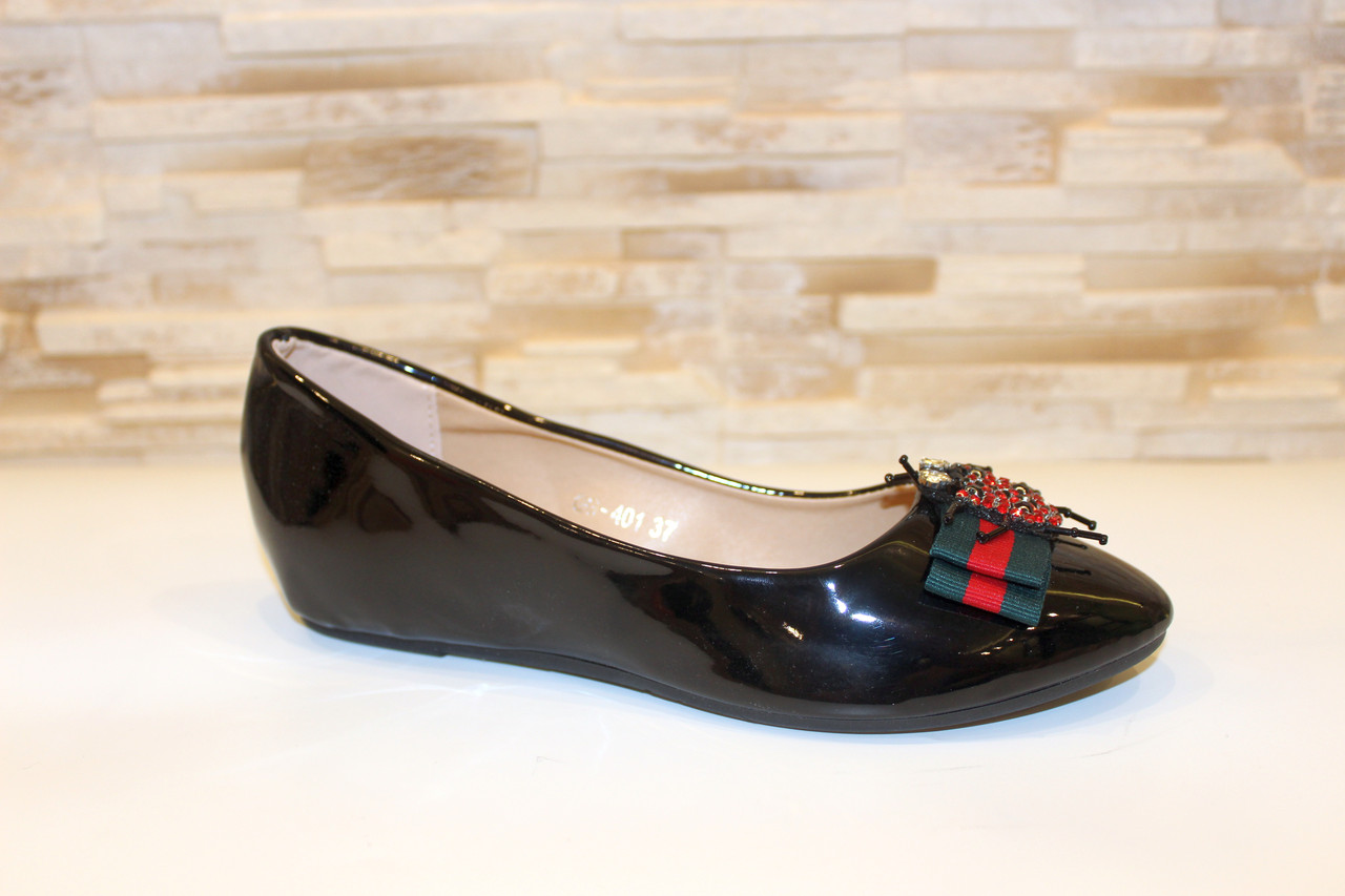 Балетки туфли женские черные Т063