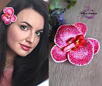 """Заколка для волос """"Экстравагантная орхидея"""". Украшение в прическу с цветами, фото 1"""