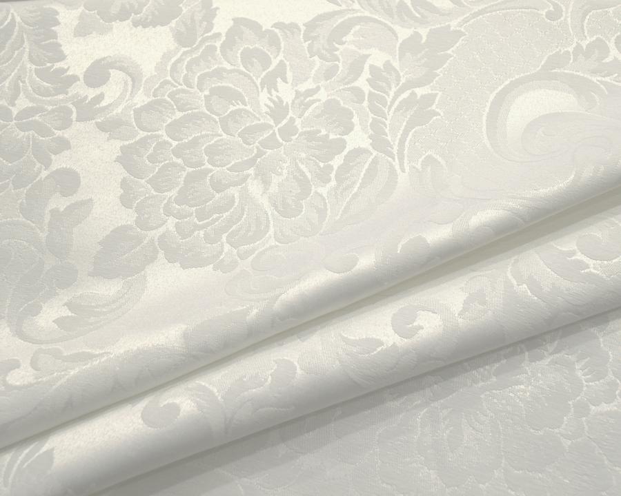 Ткань Скатертная TS-360354 Цветы 360см Молочный Италия