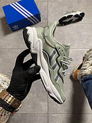 Женские кроссовки Adidas Ozweego Lite Gray (серые)