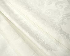 Ткань Скатертная TS-360354 Цветы 360см Молочный Италия, фото 3