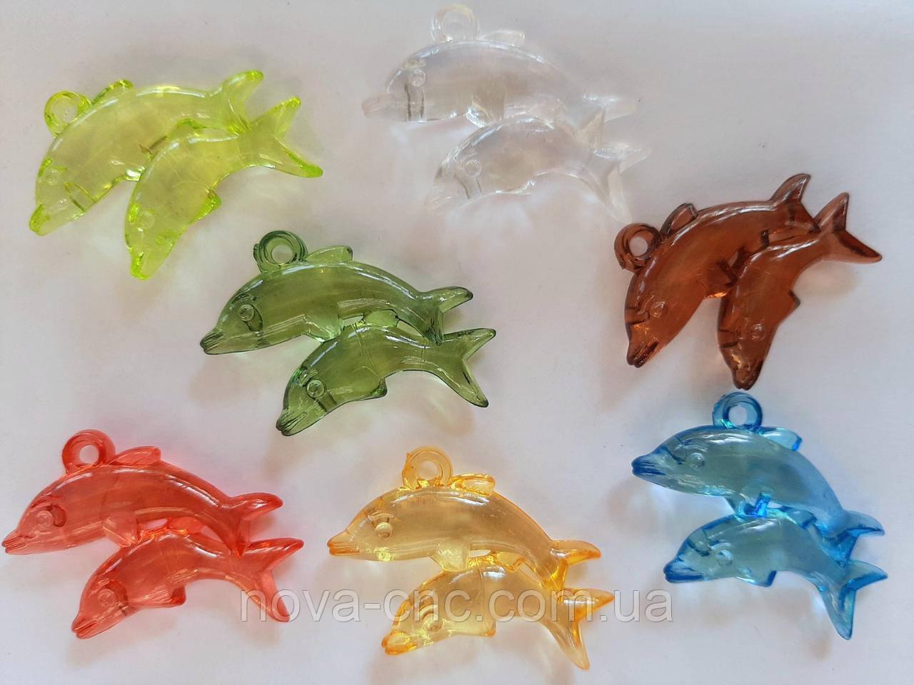 """Підвіски """"Дельфіни"""" мікс 35 мм 500 грам"""