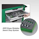Тележка с инструментом для автосервиса TOPTUL (Pro-Plus) 7 секций 261ед. зеленая GE-26117, фото 3