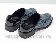 Туфли Gino Figini Т-19140-01 из натуральной кожи 37 Серо-голубой, фото 2