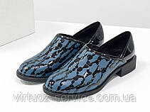 Туфли Gino Figini Т-19140-01 из натуральной кожи 37 Серо-голубой, фото 3