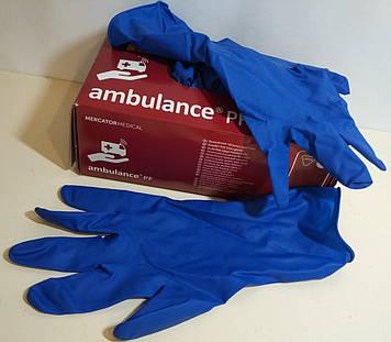 Перчатки медицинские плотные Ambulance 50штук