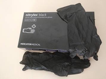 Перчатки нитриловые черные NITRYLEX black