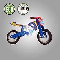 Беговел мотоцикл Flinstone DaisySign синий Vel-7