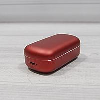 Bluetooth беспроводные наушники с водозащитой TWS s8 5.0 (блютуз гарнитура с кейсом-зарядкой) (красные), фото 5