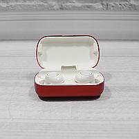 Bluetooth беспроводные наушники с водозащитой TWS s8 5.0 (блютуз гарнитура с кейсом-зарядкой) (красные), фото 3