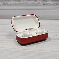 Bluetooth беспроводные наушники с водозащитой TWS s8 5.0 (блютуз гарнитура с кейсом-зарядкой) (красные), фото 2